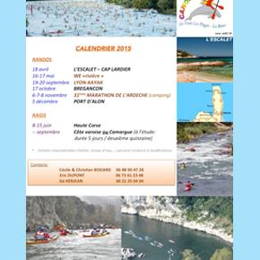 """Le calendrier 2015 """"Raids & Randonnées"""" est en ligne."""